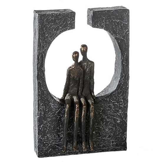 View Togetherness poly design sculpture in burnished bronze and grey