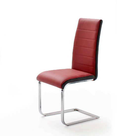 Top Red and Black Pu Leather Dining Chair