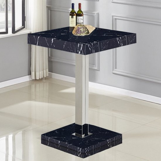 Topaz High Gloss Bar Table In Black Milano Effect_1