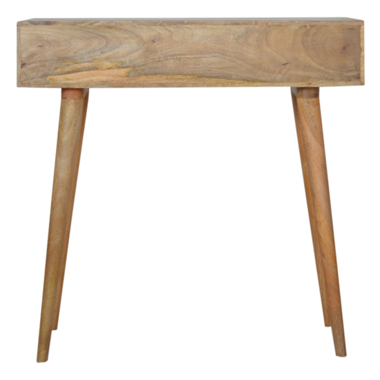 Tophi Wooden Line Carving Console Table In Oak Ish_4
