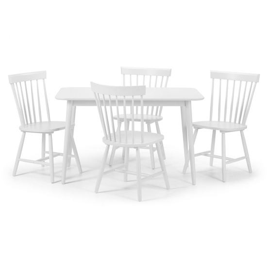 Torino Dining Set In White With 4 Chairs_2