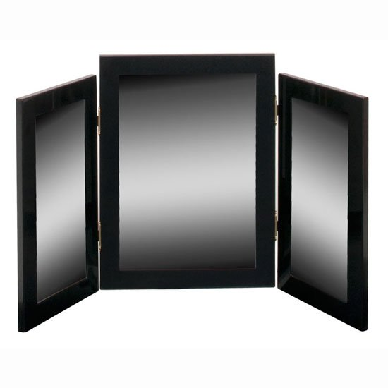 Torino Dressing Table Mirror In High Gloss Black - Black gloss dressing table