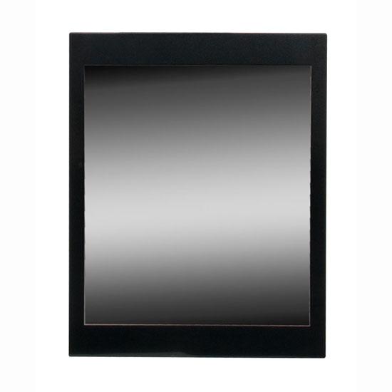 Torino Wall Mirror in High Gloss Black