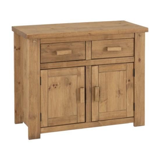 Tortilla Wooden 2 Doors 2 Drawers Sideboard In Waxed Pine