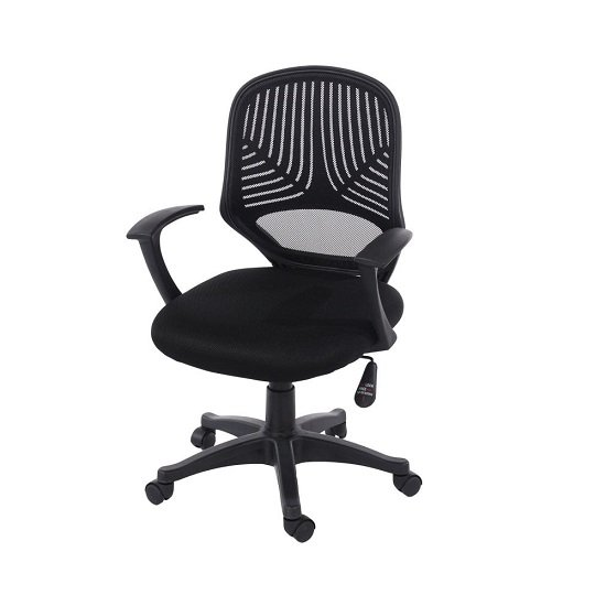 Totowa Round Mesh Back Office Chair In Black