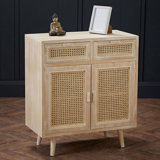Toulouse Wooden Sideboard In Light Washed Oak