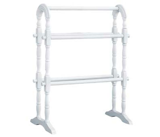 White Finish Wooden Towel Rail
