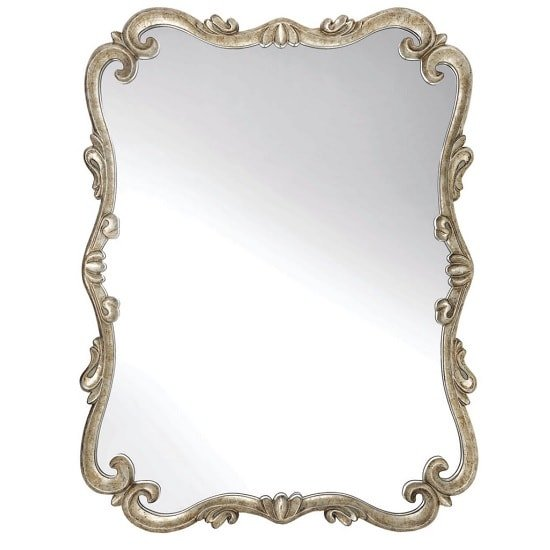 Travis Decorative Wall Mirror Rectangular In Pale Gold