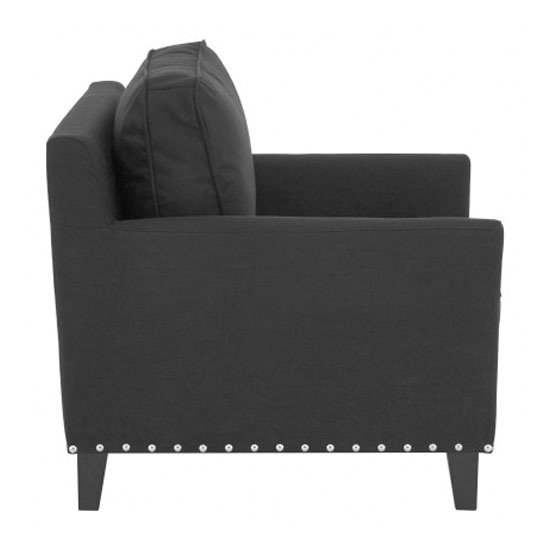 Trento Fabric Armchair In Black_3