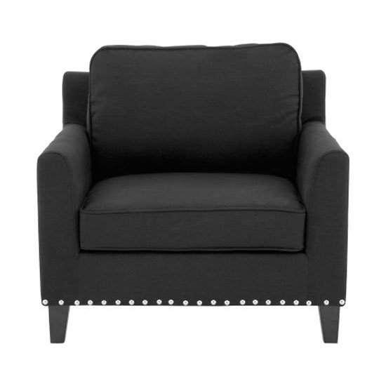 Trento Fabric Armchair In Black_1