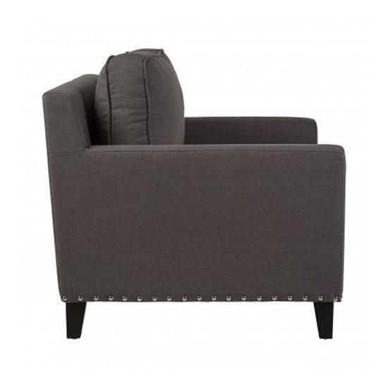 Trento Fabric Armchair In Grey_3