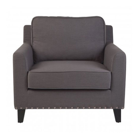 Trento Fabric Armchair In Grey_1