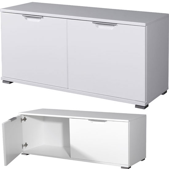 To Storage Cabinet In White High Gloss With 2 Doors