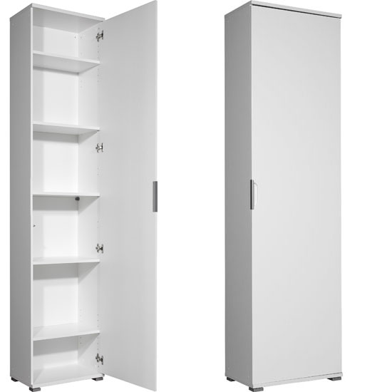 Trento White High Gloss Shoe Storage Cabinet, 3010-84 11769