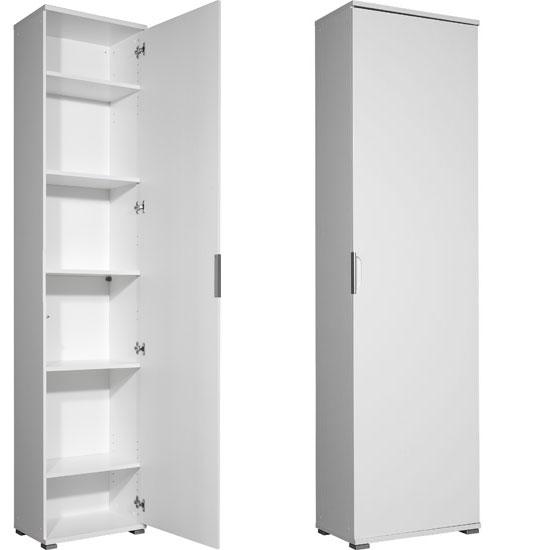 Trento High Gloss White Wardrobe/Multipurpose Cabinet, 3016-84