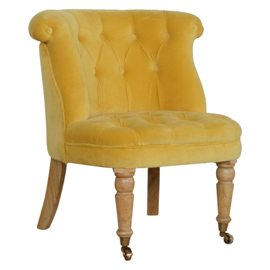 Trenton Velvet Upholstered Accent Chair In Mustard_1