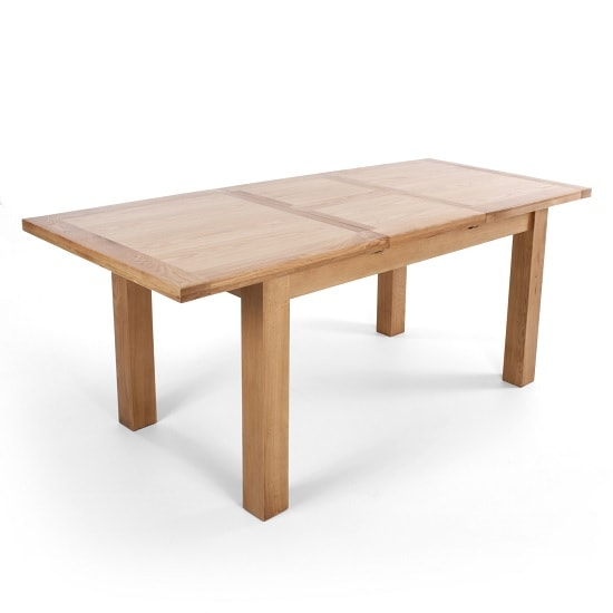 Treville Wooden Extendable Dining Table Large In Solid Oak