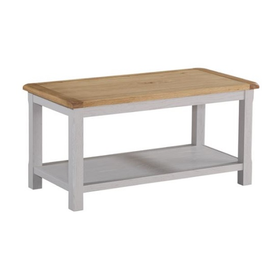 Trevino Wooden Coffee Table In Antique Grey Painted