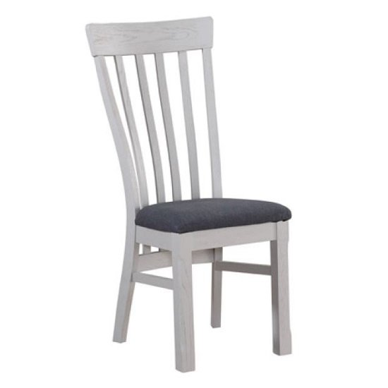 Trevino Wooden Dining Chairs In Antique Grey Painted