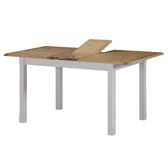 Trevino Extending Dining Table In Antique Grey Painted