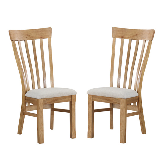 Trevino Oak Dining Chair In Pair