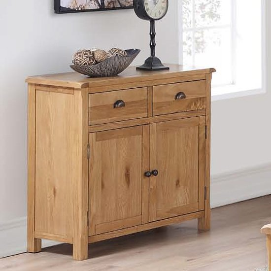Trevino Sideboard In Oak With 2 Doors And 2 Drawers