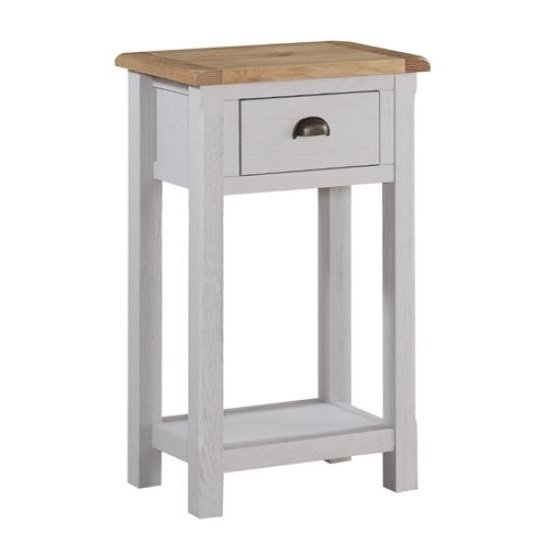 Trevino Small Console Table In Antique Grey Painted