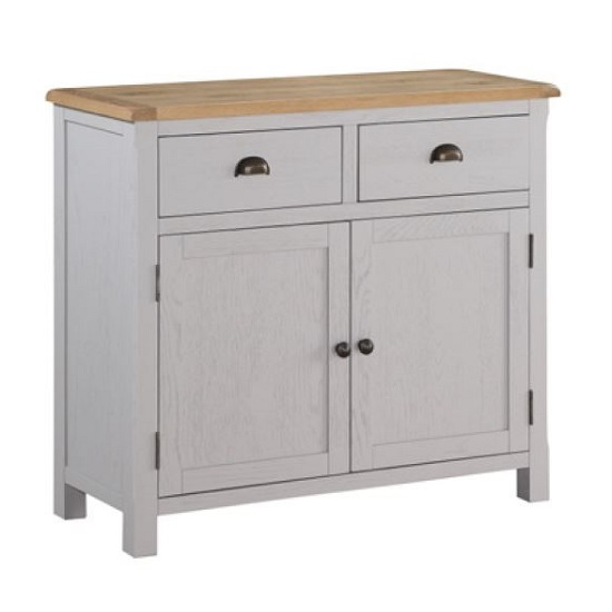 Trevino Small Sideboard In Antique Grey Painted
