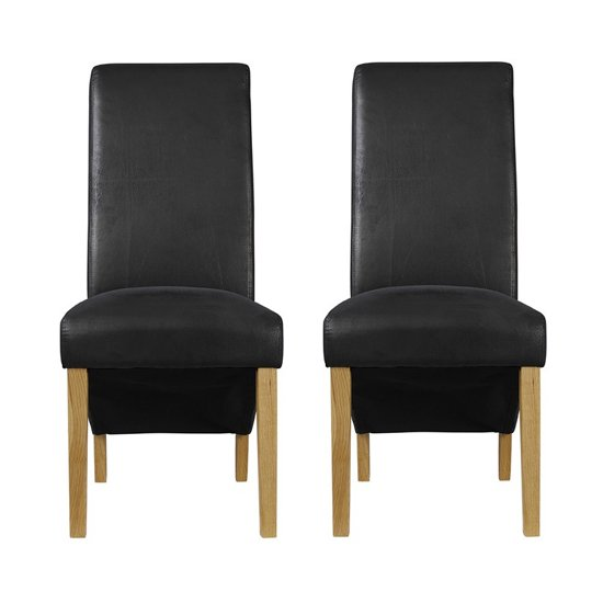 Treviso Black Finish Dining Chairs In Pair