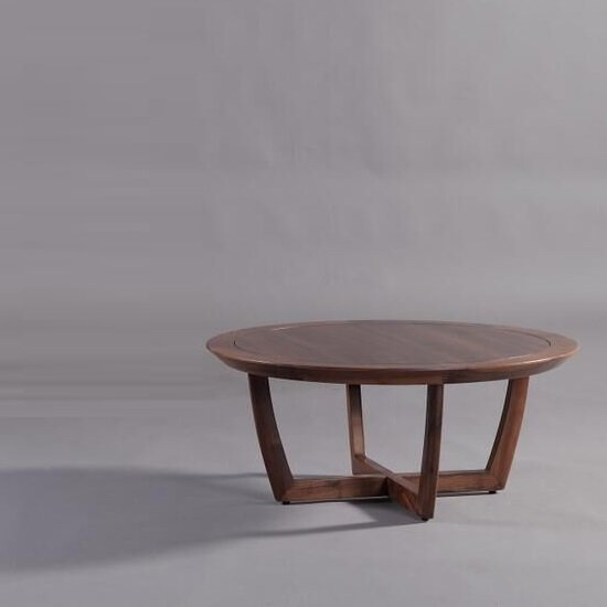 Trevon Wooden Coffee Table Round In North American Walnut