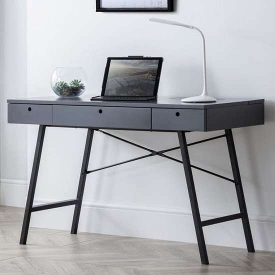 Trianon Wooden Laptop Desk In Grey