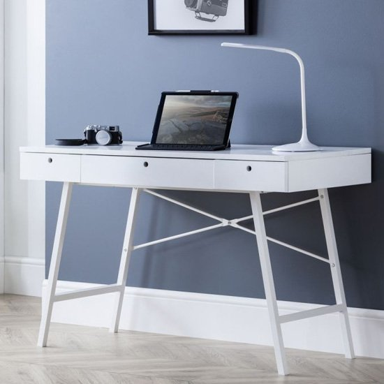 Trianon Wooden Laptop Desk In White_1