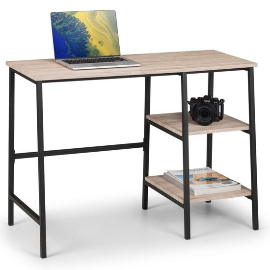 Tribeca Wooden Laptop Desk In Sonoma Oak