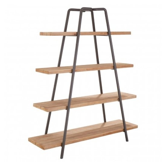 Trigona 4 Tiers Wooden Shelving Unit In Natural