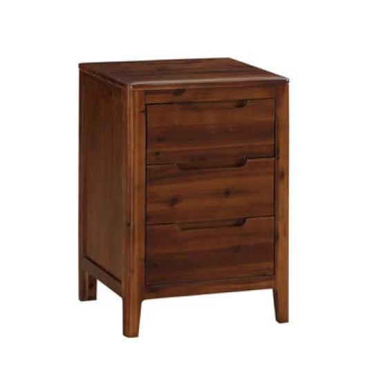 Trimble Wooden Bedside Cabinet In Rich Acacia Finish