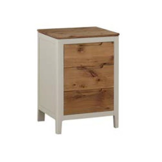 Trimble Bedside Cabinet In Spanish White Painted