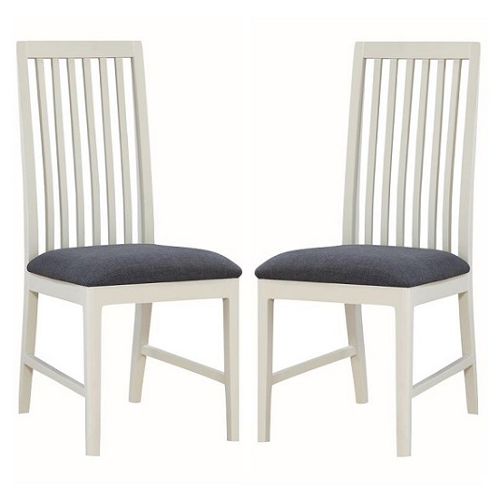 Trimble Wooden Dining Chair In Spanish White Painted