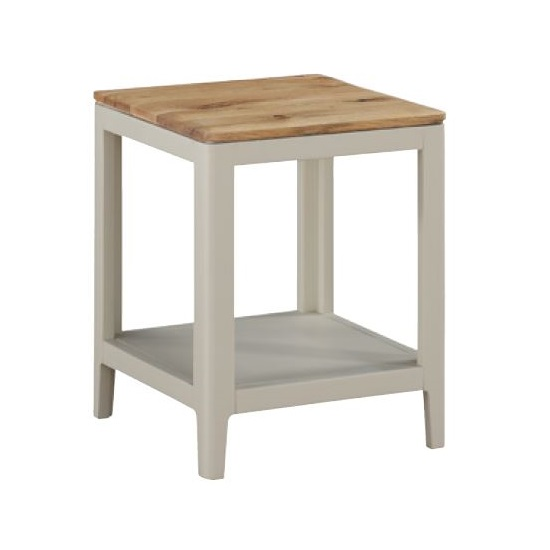 Trimble End Table In Spanish White Painted