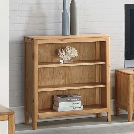 View Trimble low bookcase in oak with 2 shelves