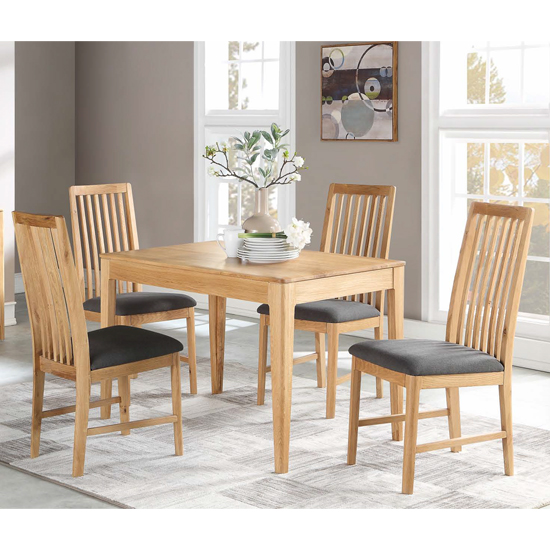 Trimble Oak Dining Set With 4 Dining Chairs