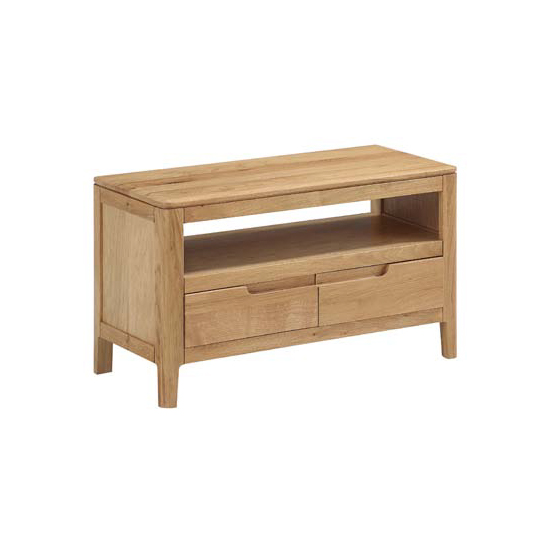 Trimble Small TV Unit In Oak With 2 Drawers