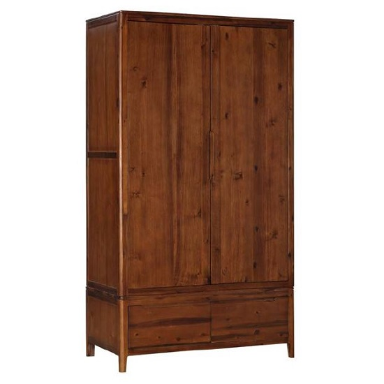Trimble Wooden Wardrobe In Rich Acacia Finish