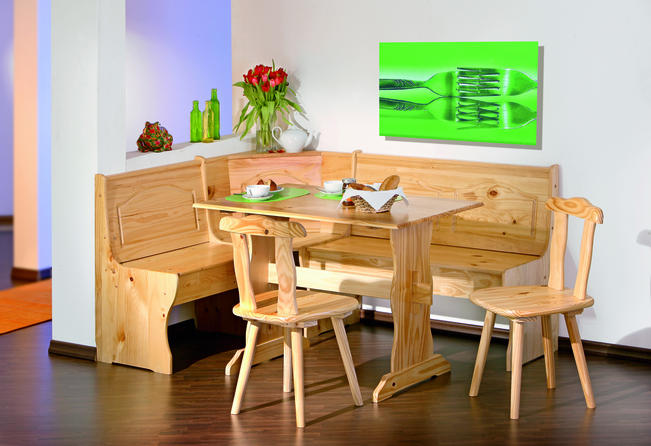 View Tirol corner seat dining set in alpine style