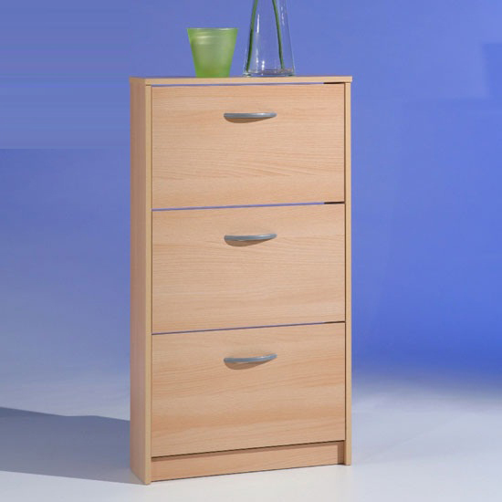 triple shoe cabinet beech - 6 Advantages Of Having A Shoe Storage Cabinet In Pine