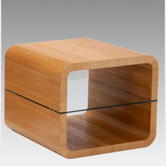 Triton Brushed Ash Veneer Lamp Table