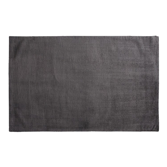 Trivago Large Fabric Upholstered Rug In Charcoal