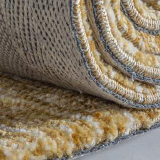 Trivago Large Fabric Upholstered Rug In Ochre_2