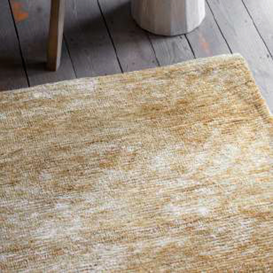 Trivago Large Fabric Upholstered Rug In Ochre_3