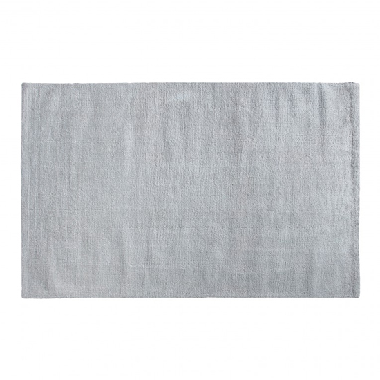 Trivago Large Fabric Upholstered Rug In Silver