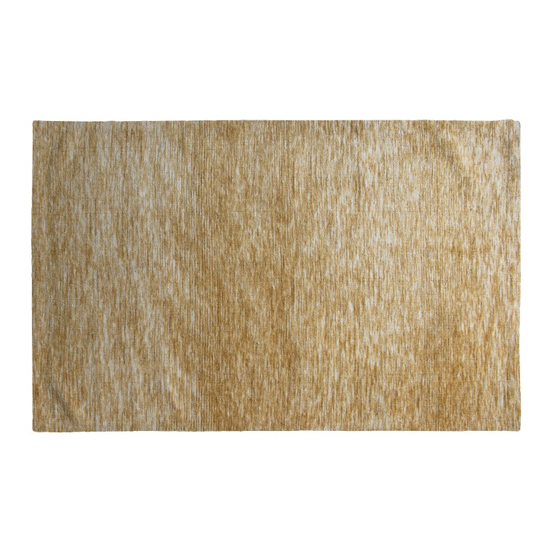Product photograph showing Trivago Medium Fabric Upholstered Rug In Ochre